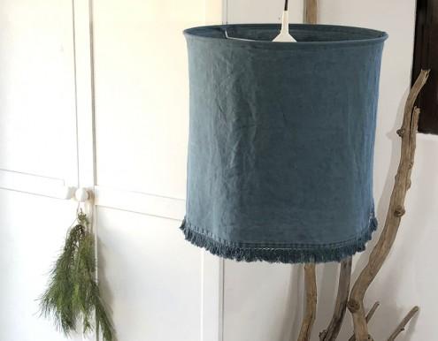 Abat-jour lin bleu vert Madam Stoltz