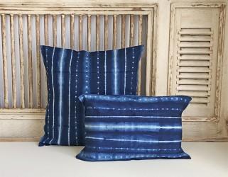 Housses de coussin bleu Tensira