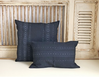 Housse coussin noire Tensira