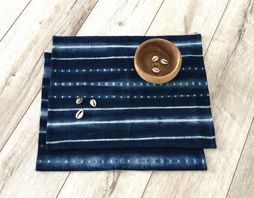 Lot 2 sets de table bleu Tensira