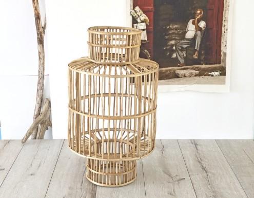 Suspension lanterne bambou