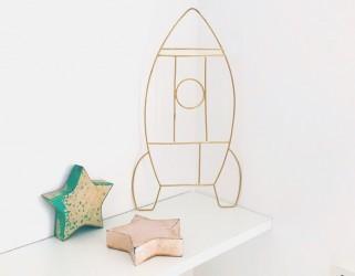 Fusée décoration chambre enfant Delphine Plisson
