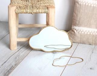 Miroir nuage laiton déco chambre enfant