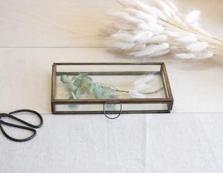 Boite bijoux verre rectangulaire
