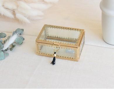 Boîte bijoux verre Madam Stoltz
