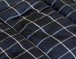 Housses coussins noires rayures blanches - Tensira